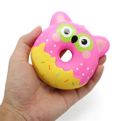 Squishy Owl 1 squishy factory owl donut 10cm soft rising with packaging collection gift decor alex nld
