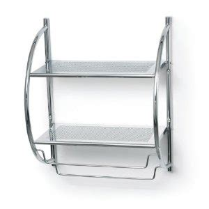 Chrome Towel Shelves For Bathroom Bathroom Accessories Polder 90 05 Bathroom Shelf And Towel Rack Chrome