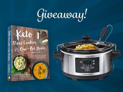 keto crock pot cookbook books keto cooker one pot meals crockpot giveaway
