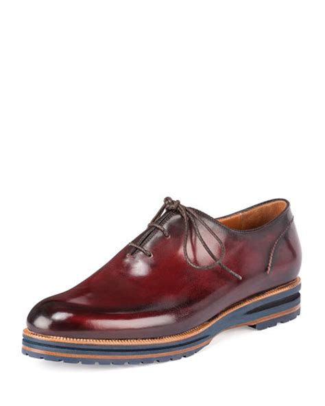 burgundy oxford shoes berluti alessio lace up oxford shoe burgundy