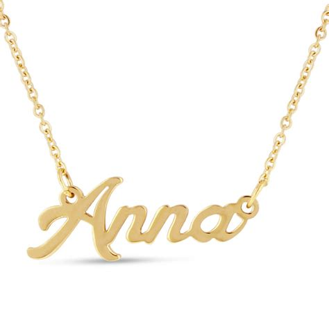 nameplate necklace in gold superjeweler
