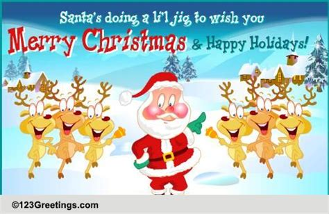 merry christmas  happy holidays  santa claus ecards