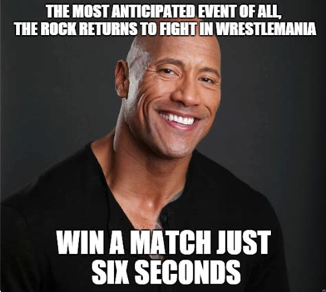 The Rock Meme - rocky wins lol dwayne quot the rock quot johnson know your meme