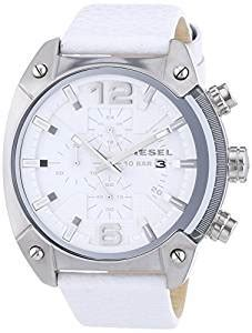 Diesel Dz4315 Overflow Chronograph White White Leather Watc 1 buy diesel chronograph white s dz4315 at low prices in india in