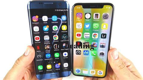 galaxy  edge  iphone  speed test youtube