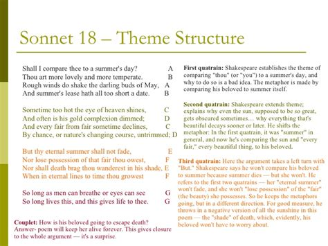 sonnet sections essay on sonnet 18