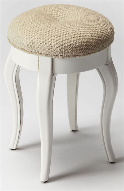 Vanity With Stool White by Cottage White Vanity Stool 9302222 Butler