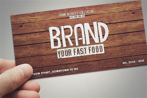 Fast Card Gift Card - fast food restaurant gift card card templates on