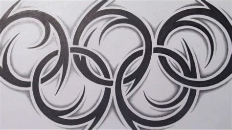 tribal tattoo rings how to draw the olympic rings tribal design style