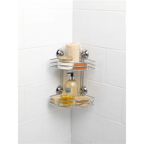 Beldray Two Tier Corner Suction Caddy Bathroom M M Bathroom Accessories