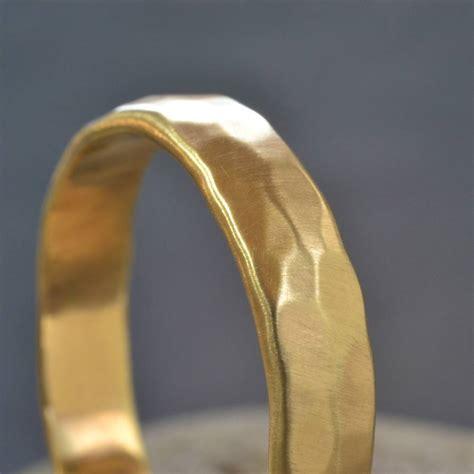 Handmade Gold - handmade gold hammered wedding ring by muriel