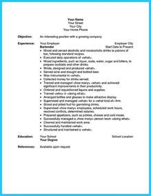 Objective For Bartender Resume Excellent Ways To Make Great Bartender Resume Template