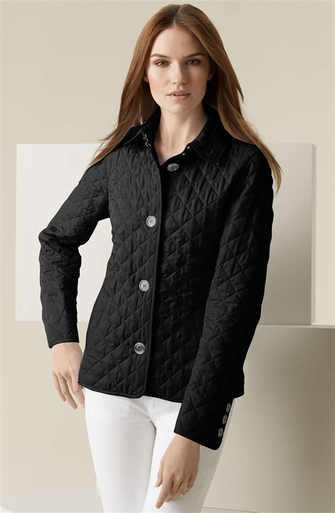 Quilted Jacket Burberry by Burberry Brit Copford Quilted Jacket In Black Lyst