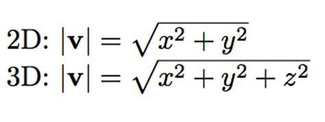 vector magnitude length
