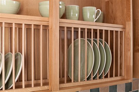 kitchen cabinet plate rack solid wood oak plate rack wood kitchen plate racks