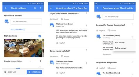 google images questions questions answers in google business listings online