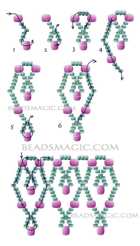 free beading patterns kor 225 lky on seed beaded necklaces and