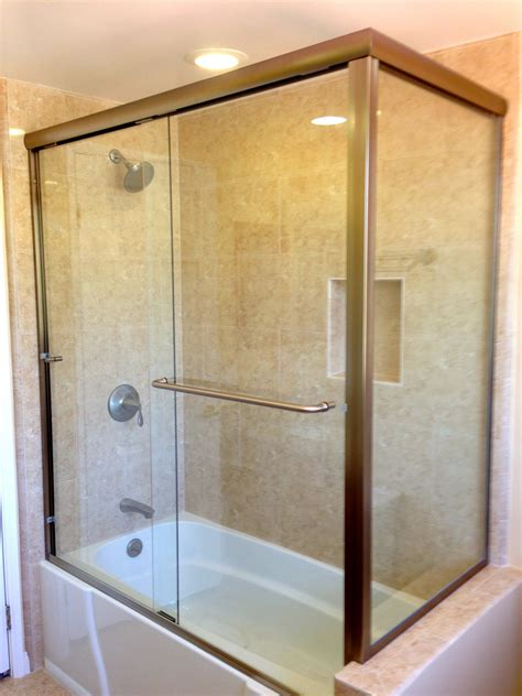 frameless bypass shower doors sliding bypass semi frameless tub enclosures