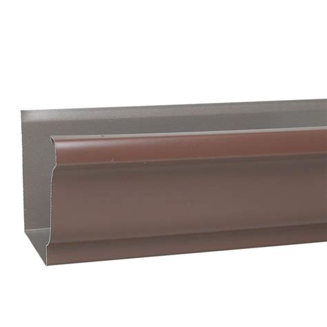Vinyl Gutters Home Depot by Amerimax Home Products 2 In X 3 In Brown Vinyl Downspout