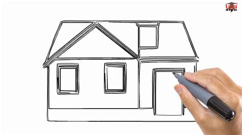 simple house drawing how to draw a house easy drawing step by step tutorials