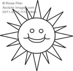 Sun Outline Clip by Royalty Free Clipart Illustration Of A Smiley Sun Outline