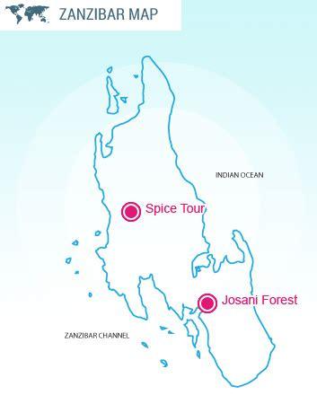 printable map of zanzibar josani forest spice tour full day xperience tours