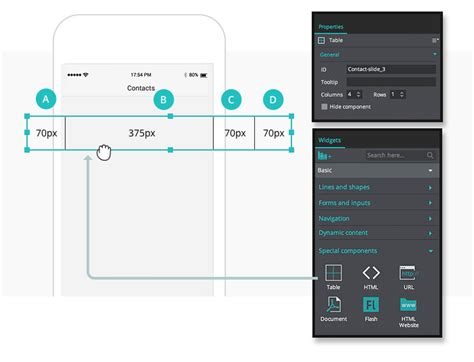 iphone table layout create interactive contact lists in your mobile prototypes