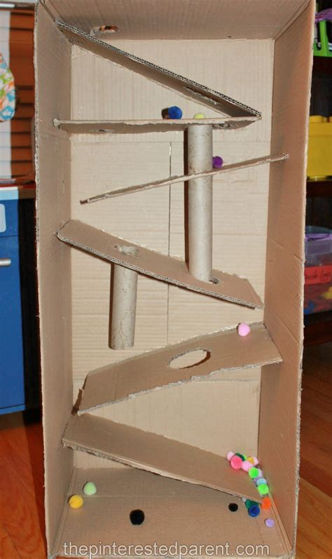 boxes for preschoolers cardboard box marble run the pinterested parent