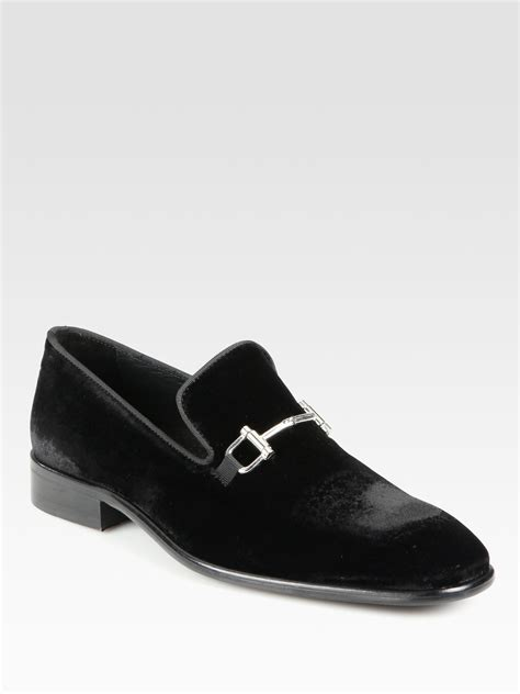 black velvet loafers mens saks fifth avenue bitdetailed velvet loafers in black for