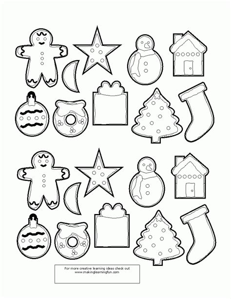 small christmas coloring pages ornaments to color kids