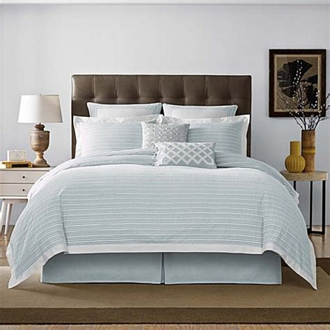 real simple bedding real simple 174 soleil duvet cover in aqua bed bath beyond