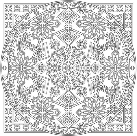 detailed snowflake coloring page welcome to dover publications