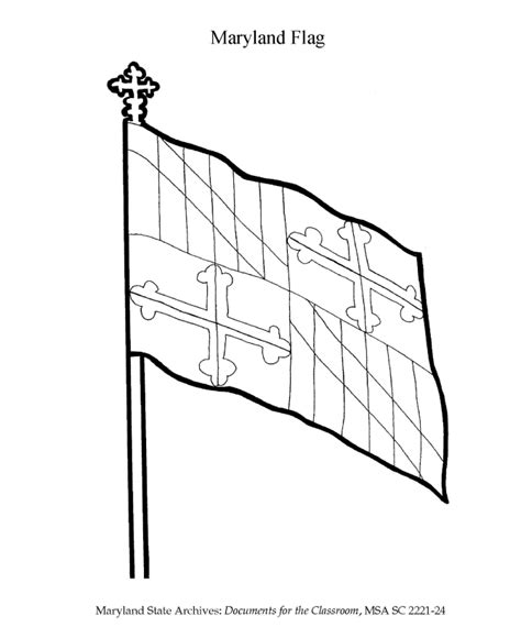 Maryland State Flag Coloring Page maryland coloring page coloring home