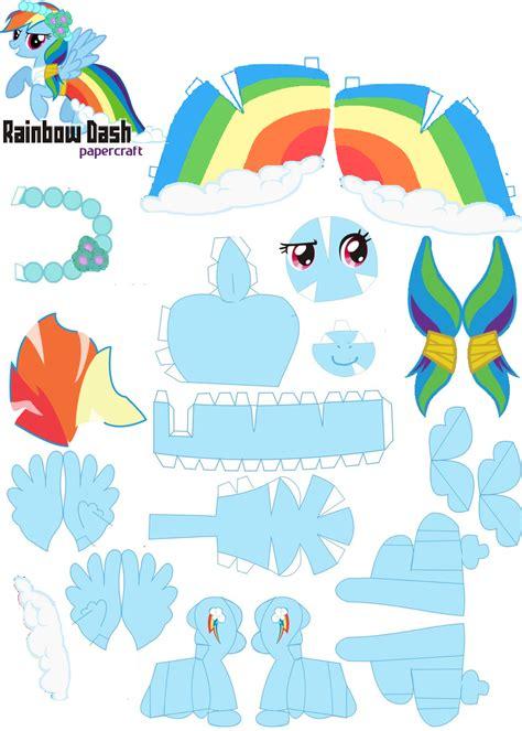 My Pony Paper Crafts - papercraft rainbow dash royal wedding by oskarek11