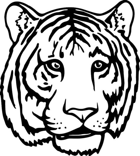 tiger head coloring pictures