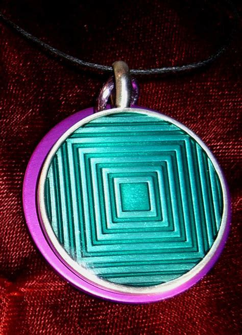 Tesla Purple Plate Tesla Purple Energy Necklaces