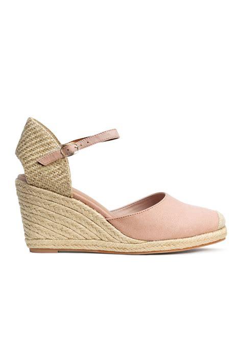 H Jute Wedges 259 wedge heeled espadrilles powder pink sale h m us