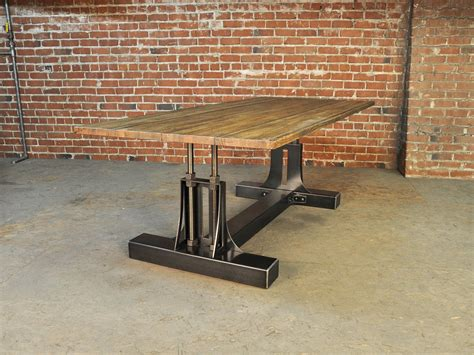 post industrial table base vintage industrial furniture