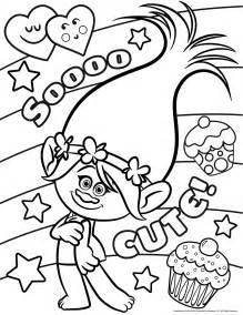 les trolls poppy cute coloriage les trolls coloriages pour enfants