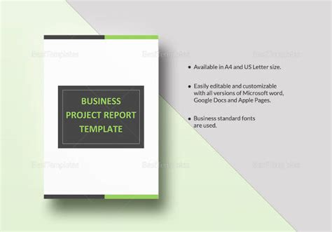 project report templates  docs word pages