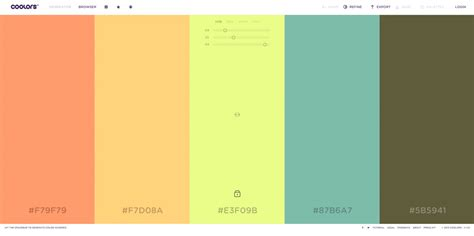 trendy color schemes trendy web color palettes and material design color