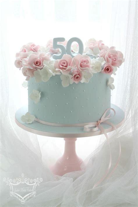 50th Birthday Cake en 2019   pasteles   Pretty birthday