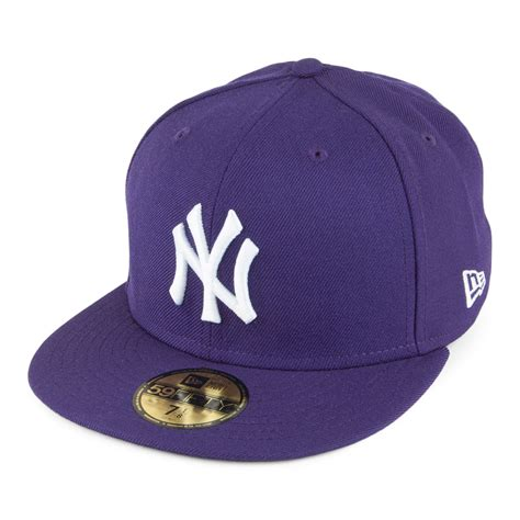 new era 59fifty new york yankees baseball cap purple