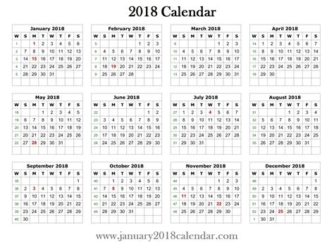 word calendar 2018 template 2018 printable word calendar template printable