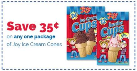 joy ice cream cones only $0.92 with kroger mega event