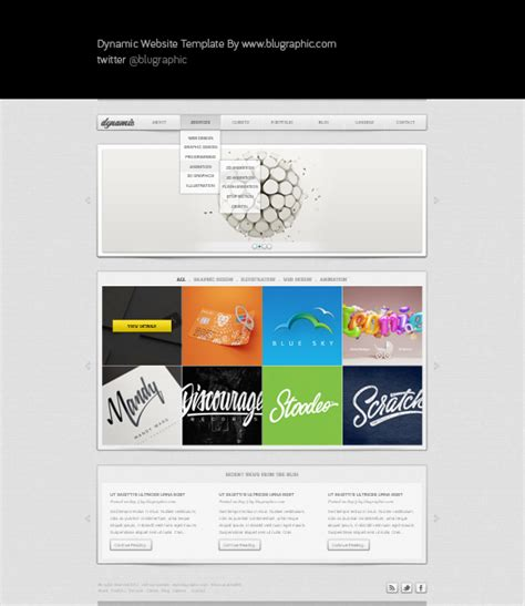 dynamic templates free dynamic free general website template psd
