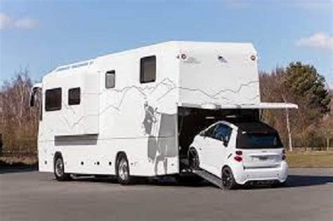 motor home with garage for cars vario 1100sh model combo motorhome and toy hauler built