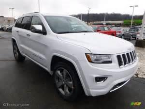 bright white 2014 jeep grand overland 4x4