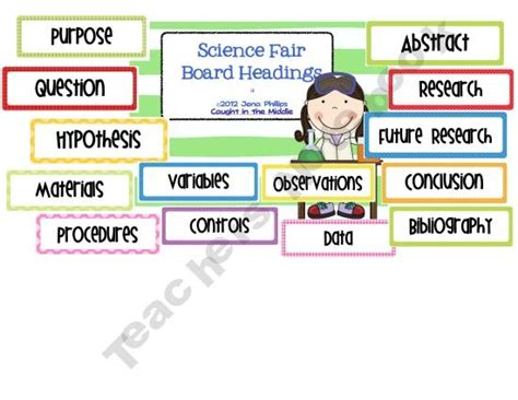 science fair labels templates free for science fair board headings allows