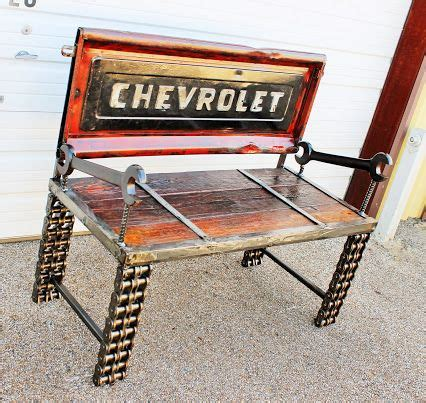 hand crafted truck tailgate truck bench automobile